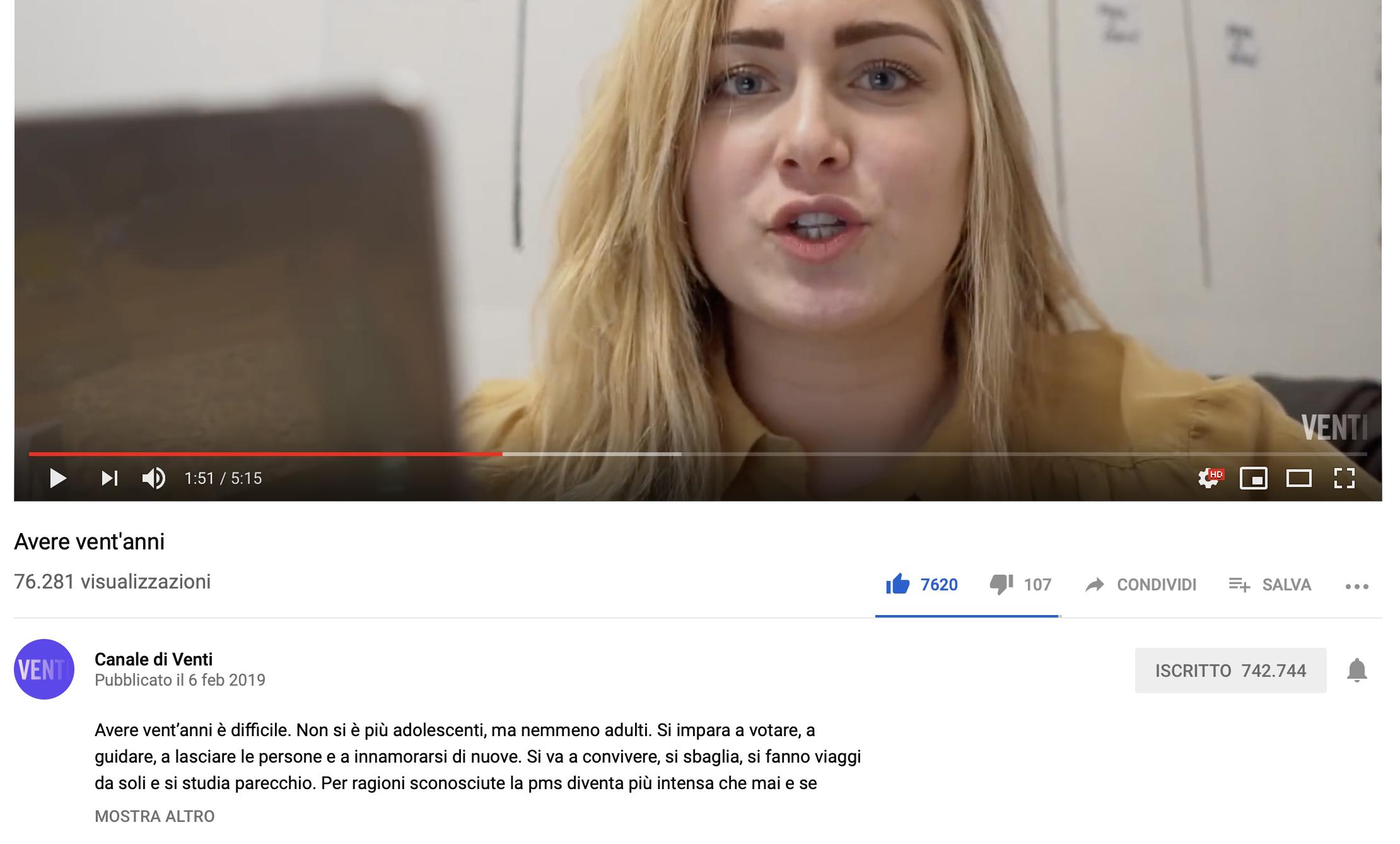 """Sofia Viscardi torna su youtube con """"Canale di Venti"""": questa sì che è pop culture"""