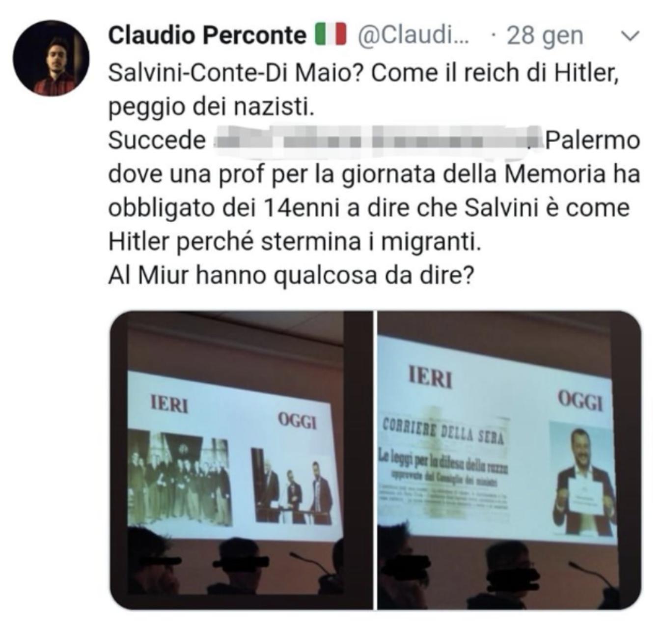 Claudio Perconte twitter slide Gionata della memoria